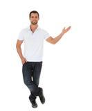 Atrakcyjny młody człowiek target1348_0_ strona Zdjęcia Royalty Free