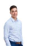 Atrakcyjny młody człowiek w mądrze koszula zdjęcie royalty free