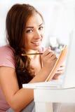 Atrakcyjny młody uczeń Close-up portret Zdjęcia Royalty Free