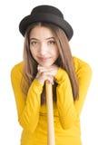Atrakcyjny młodej kobiety mienia kij bejsbolowy Fotografia Royalty Free