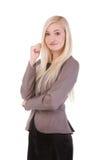 Atrakcyjny młody bizneswoman Zdjęcie Royalty Free
