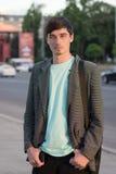 Atrakcyjny młody facet outdoors Obraz Royalty Free