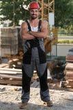 Atrakcyjny pracownik Na budowie Zdjęcie Stock