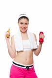 Atrakcyjny sprawności fizycznej dziewczyny workingout Obraz Royalty Free