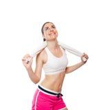 Atrakcyjny sprawności fizycznej dziewczyny workingout Obraz Stock