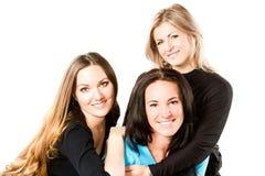 atrakcyjny uśmiechający się młodej trzy kobiety Fotografia Stock