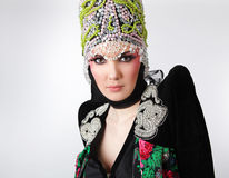 atrakcyjny ubrań projekta wyłączność na wywiad model Zdjęcia Stock
