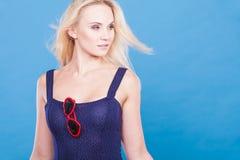 Atrakcyjny zmysłowy blondynki dorosłej kobiety portret Zdjęcie Stock