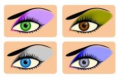 atrakcyjnych oka oczu żeński cień wibrujący Obraz Stock