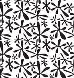 Atramentów punkty, czarny i biały abstrakcjonistyczny geometryczny bezszwowy pa Ilustracja Wektor