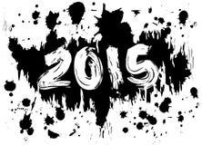 2015 atramentów splatters Fotografia Royalty Free