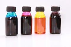 Atrament butelki Obrazy Stock