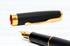 atrament dokumentu długopis zdjęcie stock