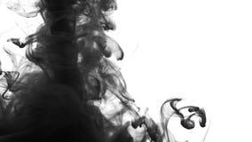 Atrament Dymna przemiana - przemiany animacja przypomina atrament lub dym Czarny i biały abstrakcja w postaci dymu zbiory wideo