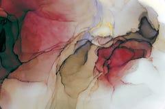 Atrament, farba, abstrakt Kolorowy abstrakcjonistyczny obrazu tło Textured nafciana farba Wysokiej jakości deta ilustracja wektor