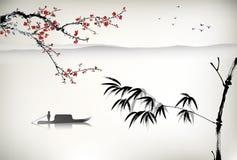 Atrament malujący bambus Fotografia Stock