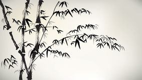 Atrament malujący bambus Obraz Royalty Free