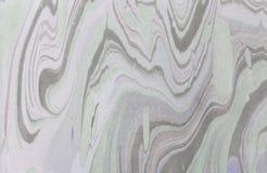 Atrament marmurowa tekstura Ebru handmade falowy tło Kraft papieru powierzchnia Unikalna sztuki ilustracja Ciekła marmoryzaci tek Obraz Royalty Free