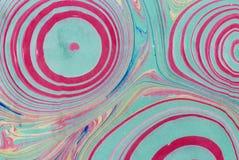 Atrament marmurowa tekstura Ebru handmade falowy tło Kraft papieru powierzchnia Unikalna sztuki ilustracja Ciekła marmoryzaci tek Obrazy Stock