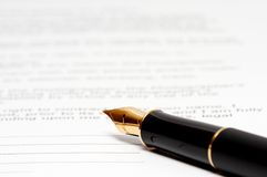 atrament papieru długopis Obrazy Stock