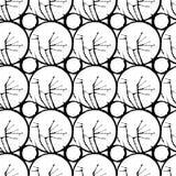 Atrament rozlewający plama geometrical bezszwowy wzór Fotografia Royalty Free