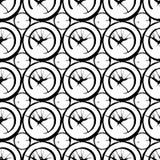 Atrament rozlewający plama geometrical bezszwowy wzór Obrazy Royalty Free