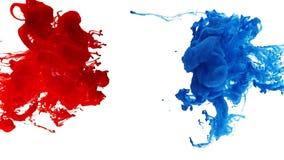 Atrament wiruje w wodzie, kolor kropla w wodzie fotografującej w ruchu fotografia royalty free