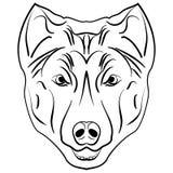 Atramentu nakreślenia pies Obrazy Stock