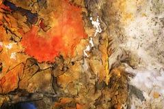 Atramentu obrazu koloru żółtego tło Zdjęcie Royalty Free