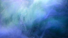 Atramentu pomstowania spływowy magiczny błękit barwił błyskotliwości chmurę ilustracja wektor