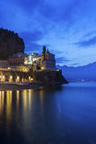 Atrani on Amalfi Coast in Italy Stock Photo