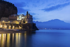 Atrani on Amalfi Coast in Italy Stock Images
