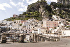 Atrani - Amalfi Coast. Atrani, a small fishing village on the Amalfi Coast stock images