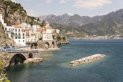Atrani - Amalfi Coast. View of Atrani and Amalfi Coast royalty free stock image