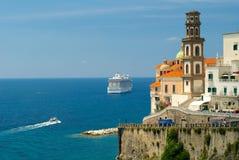 Atrani Amalfi kust Arkivfoto