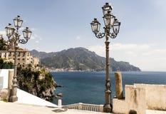 Atrani - Amalfi Kust Royalty-vrije Stock Foto's