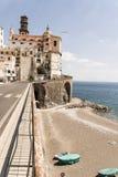 Atrani - Amalfi Kust Royalty-vrije Stock Afbeelding