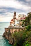 Atrani, Amalfi Kust, Italië Stock Fotografie
