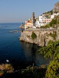 Atrani church and belltower Royalty Free Stock Photography