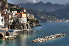 Atrani, Coast of Amalfi Stock Photos