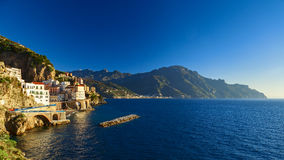 Atrani coast view in south Italy Royalty Free Stock Image