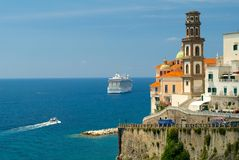 Atrani, costa de Amalfi Foto de Stock