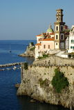 Atrani cupole and belltower Royalty Free Stock Photography