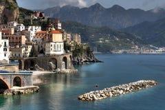 Atrani, Kust van Amalfi Stock Foto's