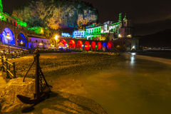 Atrani by night. Night scene from atrani in amalfi coast Stock Images