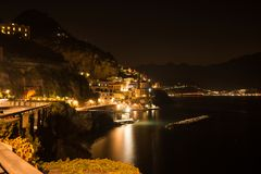 Atrani Salerno, Campania, Italien fotografering för bildbyråer