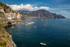 Atrani - Salerno, Campania, Italy, Europe stock photo
