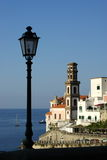 Atrani streetlight Royalty Free Stock Image