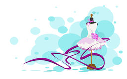 Atrapa w menchii sukni, wektor Obrazy Royalty Free