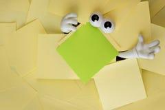 Atrapado debajo de papeleo Imagen de archivo libre de regalías